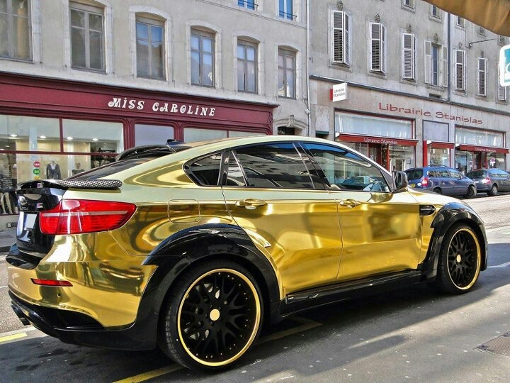 BMW Moulded In Gold Chrome