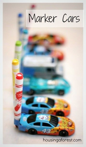 Awesome!! Drawing with Cars ~ Marker Cars is a fun activity for kids that merges art and play