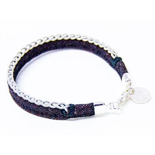 Ruosta, beautiful tin bracelet by Sara Björne Clothing & Accessories #nordicdesigncollective #nordicdesign #autumn #fall #season #windy #weather #cold #sarabjorne #bracelet #jewelry #tin #denim #rust #red #braids #nordic #accessory #silver #swedish