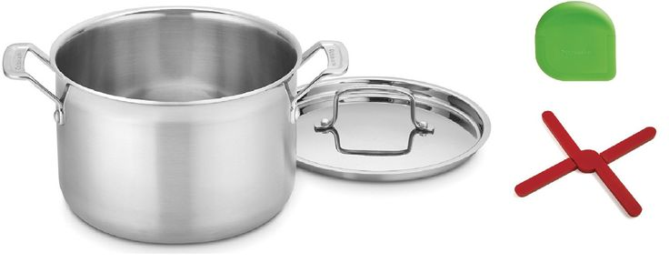 Silver CUISINART MCP44-24N MultiClad Pro Stainless 6-Quart Saucepot with Cover