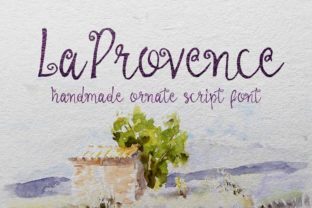 http://La Provence is a stunning hand-drawn calligraphy script font with gorgeous details.