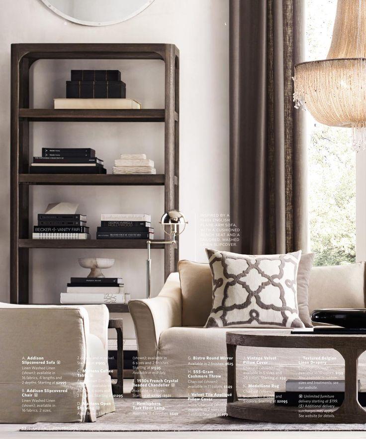 17 best images about design restoration hardware on - Restoration hardware living room ideas ...