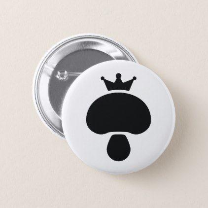Mushroom Inc Logo Pinback Button Black Gifts Unique Cool Diy Customize Personalize Stuffed Mushrooms Buttons Pinback Buttons