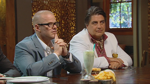 In season 3, Heston Blumenthal is moved by Michael's Lime Shake that he made in memory of his late father...