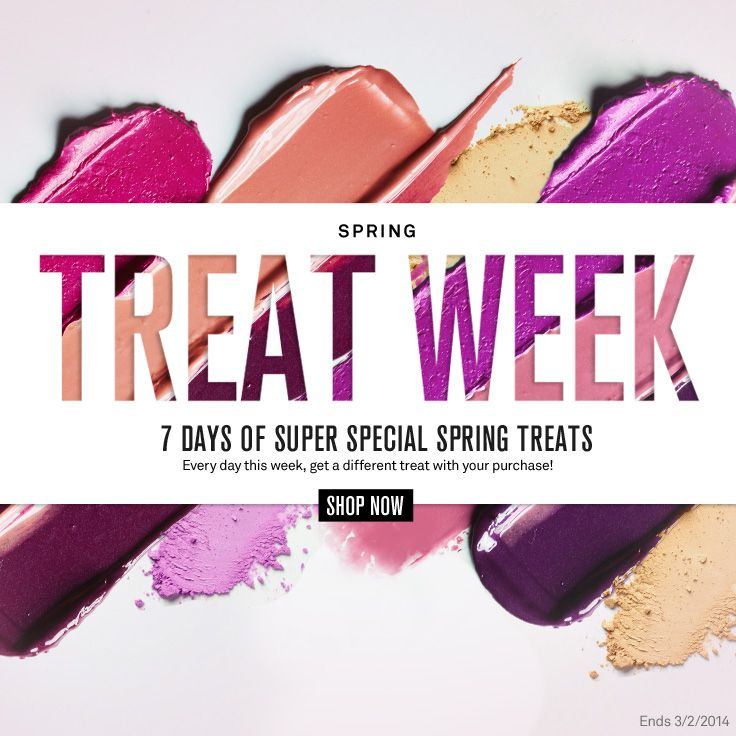 7 days of super special spring Smashbox.com treats every day this week, get a different treat with your purchase!