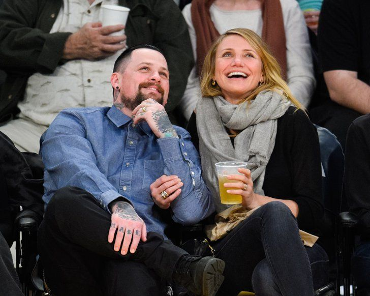 Pin for Later: 19 Memorable Celebrity Weddings of 2015 Cameron Diaz and Benji Madden