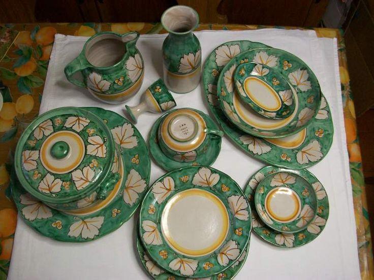 Servizio piatti in ceramica di vietri