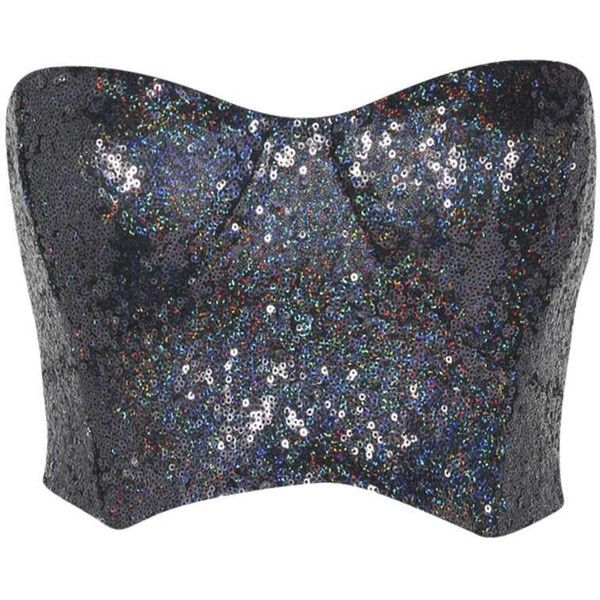 Boohoo Nancy All Over Sequin Strapless Bandeau (40 BRL) ❤ liked on Polyvore featuring tops, shirts, bandeau shirt tops, sequin shirt, bandeau shirts, sequin bandeau top and bandeau tops
