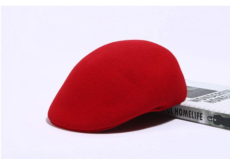 CN RUBR Осень Зимней Моды Благородный Береты Теплый 100% Шерсть Твердые Женщины Caps 6 Цветов Случайные Шапки Британский Ретро Шляпы купить на AliExpress