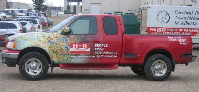 Vehicle wraps edmonton fleet car truck
