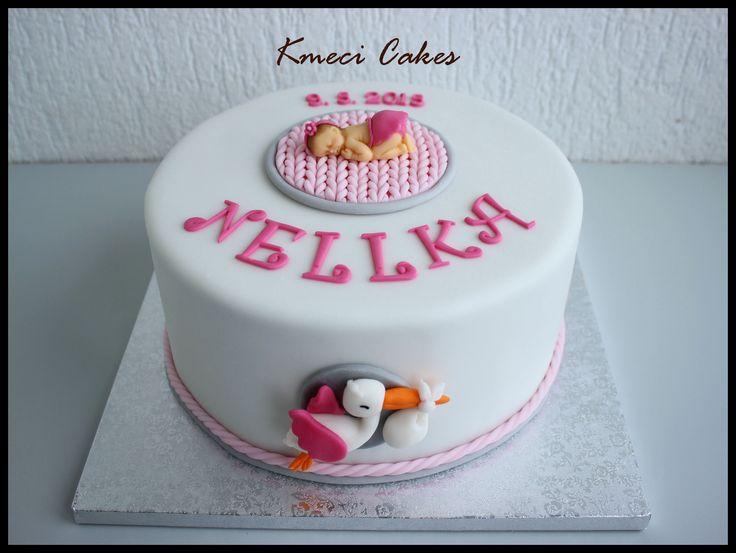 baby stork cake