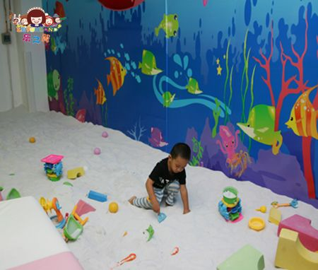 sand box, sand beach, indoor playground, kids playground, children playground, soft play www.lefunland.com