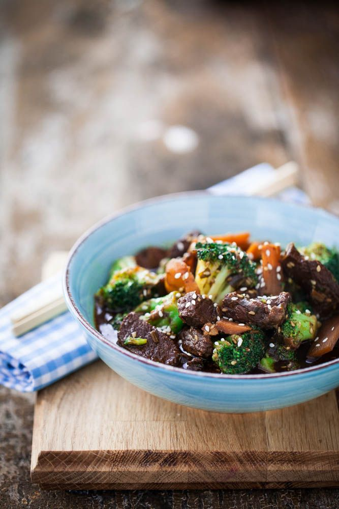 Beef with Broccoli, Bamboo and Sesame Recipe