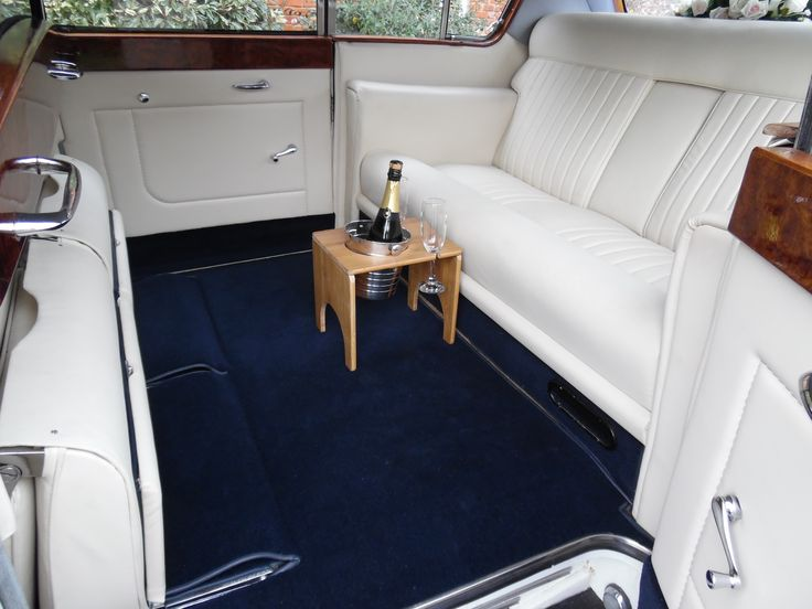 interior of 1965 Vanden Plas Princess 7 seat Limousine