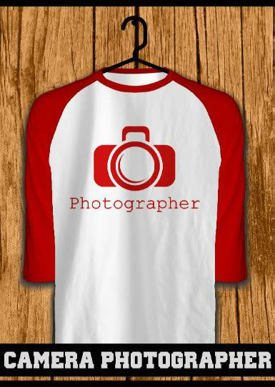 ourkios - Camera Photographer Red Raglan