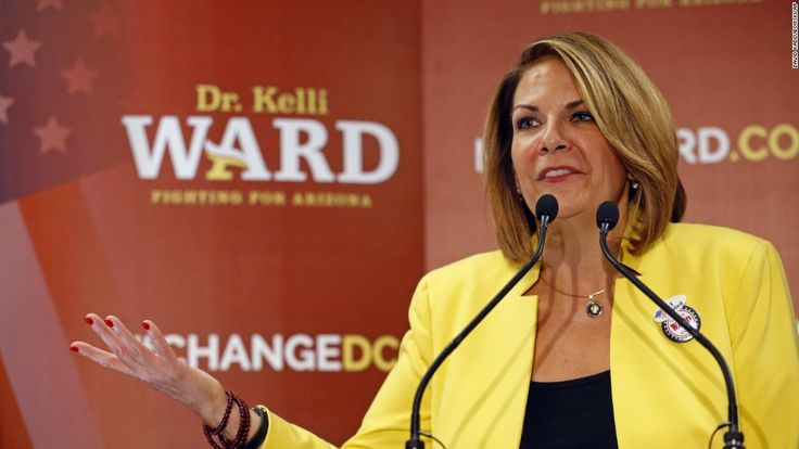 US Senate candidate Kelli Ward, who is challenging Arizona Sen. Jeff Flake in the state's 2018 Republican primary, said Thursday that she hopes Sen. John McCain will step aside as quickly as possible following the news this week of his brain cancer diagnosis.