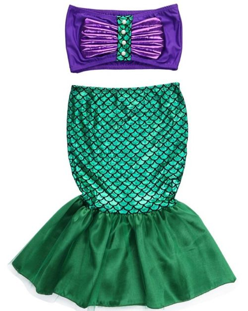 I'd love to hear your thoughts! Mermaid Swimsuit Set for Girls Exclusively brought to #LittleTroubleMakers #fashion #kidsfashion #summer