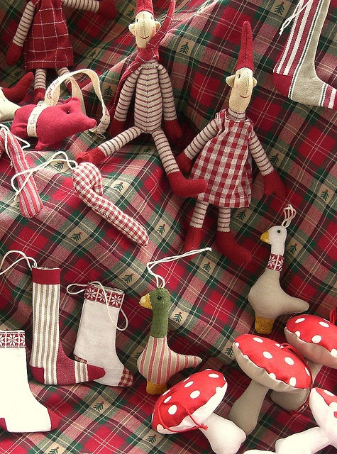 handmade christmas nisse ornaments for the tree