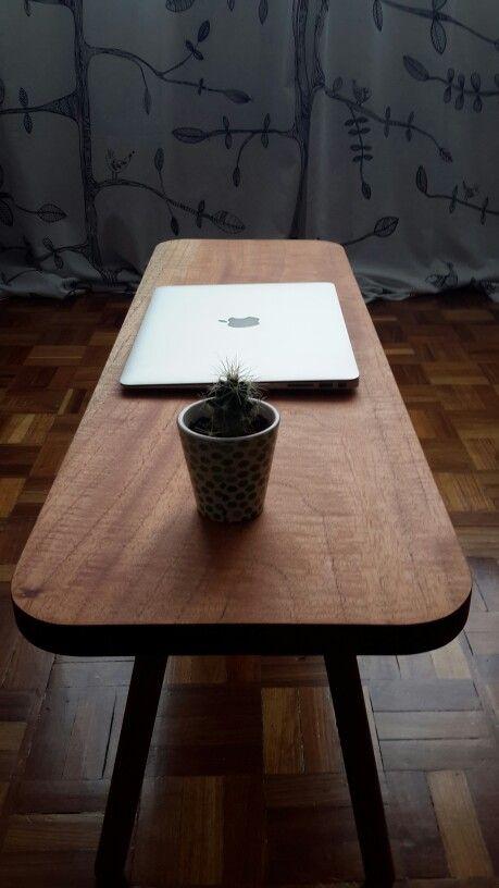 AUX, auxiliary table. Cedar + handmade
