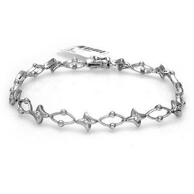 14k Solid White Gold 0.27cttw Diamond Fancy Bracelet Jewelry Liquidation. $1028.45. Made in USA!. Made with Real 14k Gold