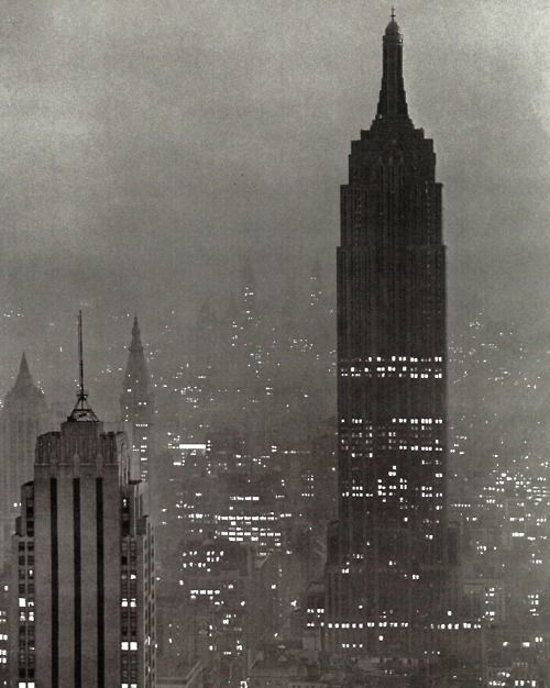 The Empire State Building, 1943 taken by Andreas Feininger
