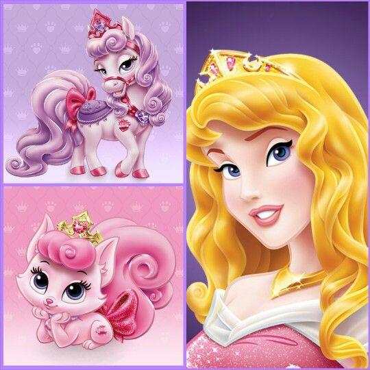 Aurora with Bloom (pony) & Beauty (kitten) | Disney Palace Pets