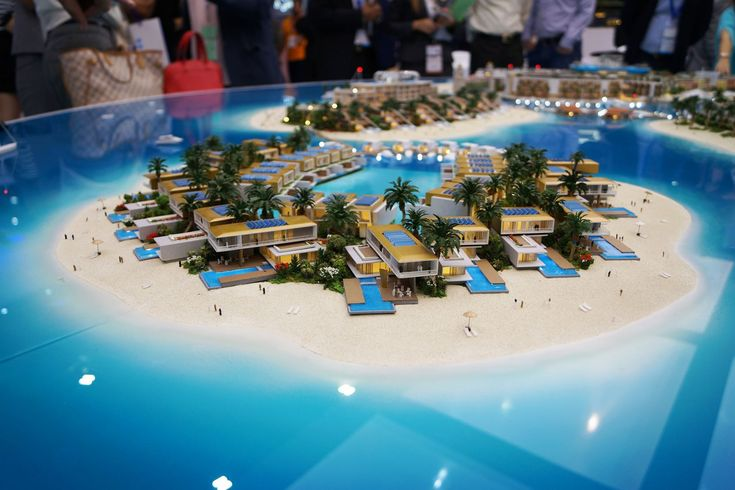 Germany Island, Dubai, developers 3D model