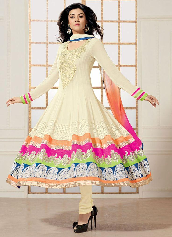 Pretty #SushmitaSen #Anarkali suit