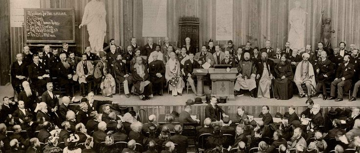 """Yoga and Buddhist practices captivated the audience at the first """"World's Parliament of Religions,"""" convened in Chicago in 1893."""