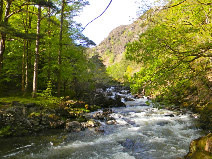 The Aberglaslyn Pass, near Beddgelert, North Wales on a beautiful sunny day.