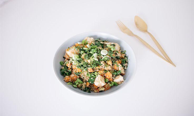 Quinoa Frita con Choy Sum