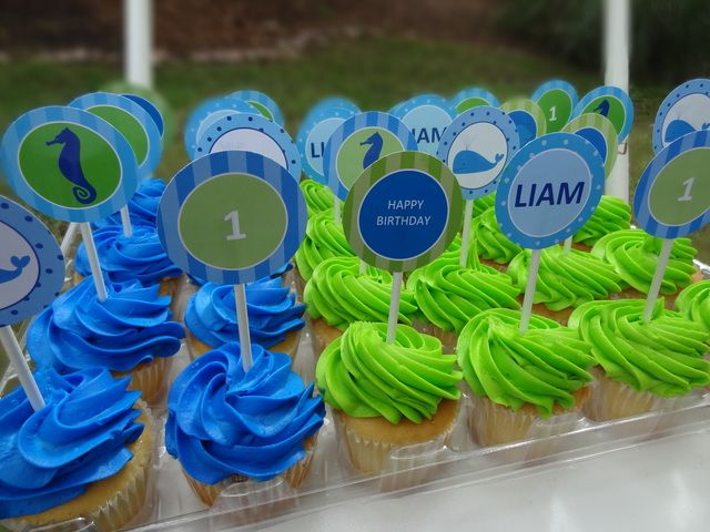 115 best Baby Trey First Birthday Party images on Pinterest - blue and green birthday party