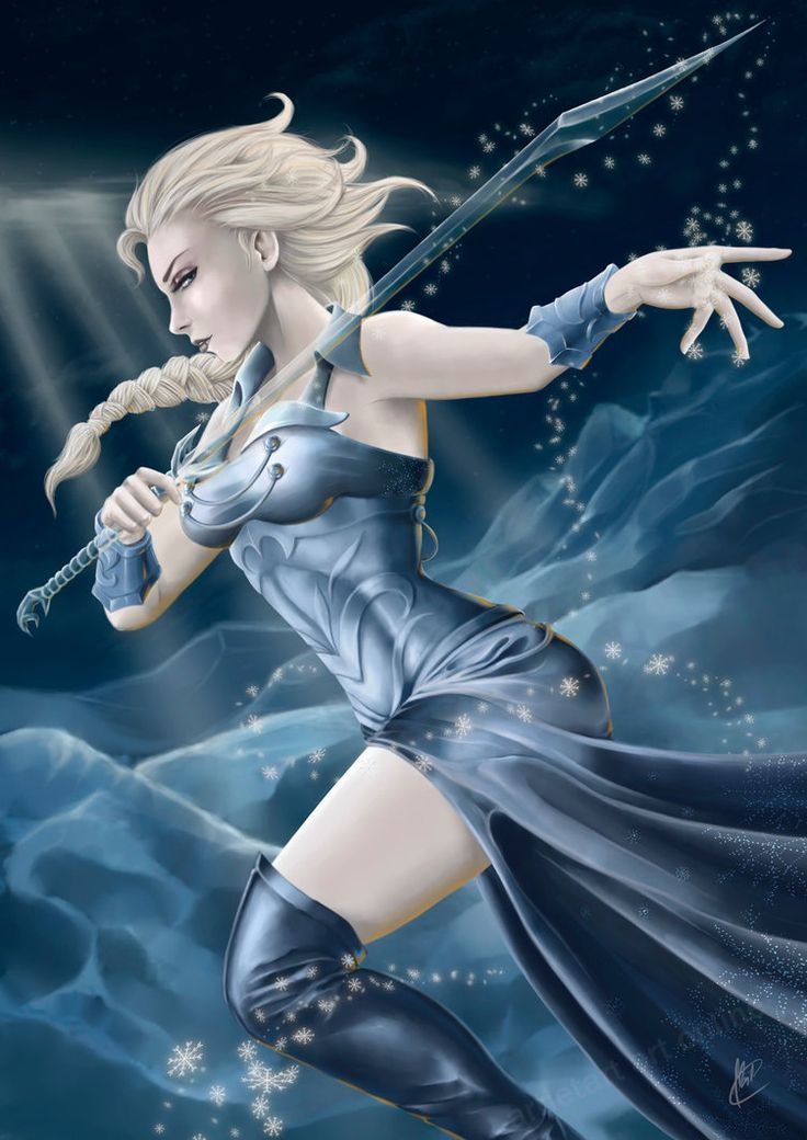Elsa the Frozen Warrior by Arrietart