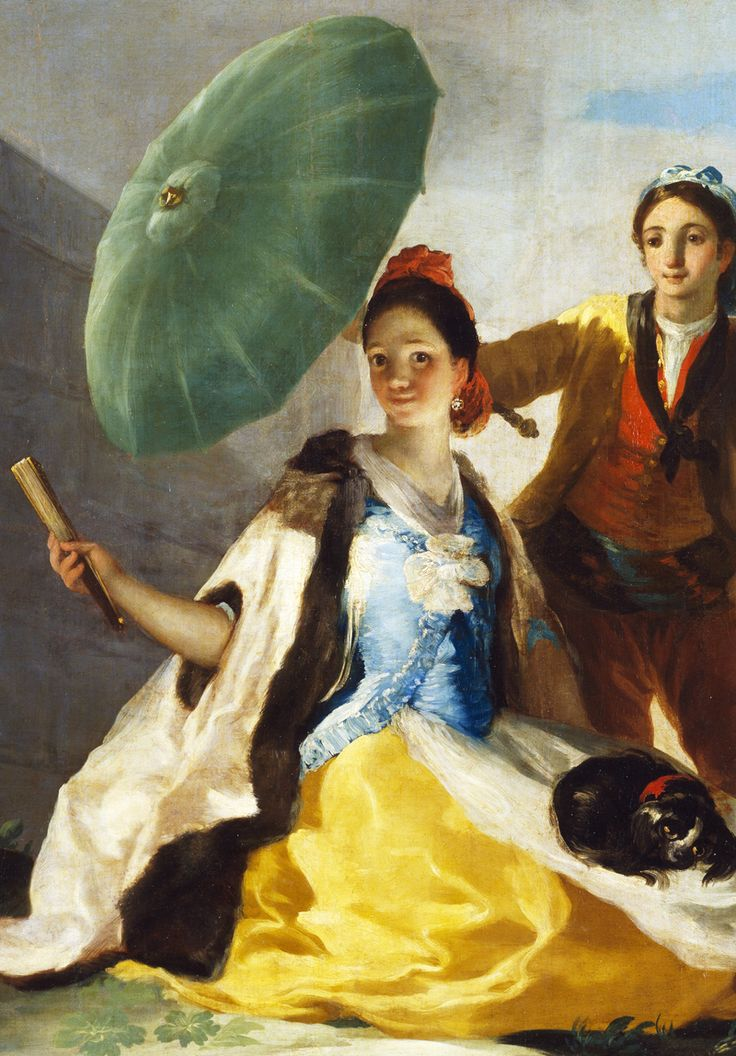 "jaded-mandarin: ""  Francisco Goya. Detail from The Parasol, 1777. """