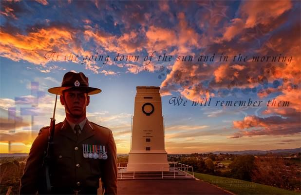 "Anzac Day  Today we remember ...  ""They shall not grow old as we that are left grow old. Age shall not weary them nor the years condemn. At the going down of the sun and in the morning we will remember them."""