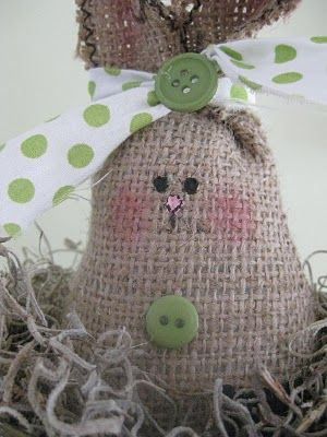 Tutorial .. burlap bunnie