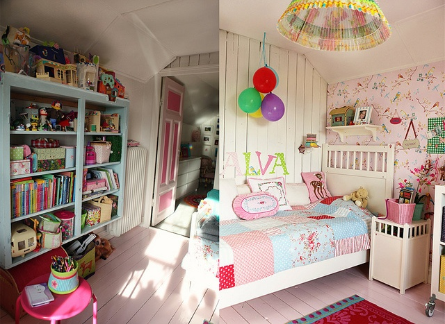 Kollage13 by Tipsy tessie, via Flickr: Murphy Houses, Colors Kids Rooms, Bedrooms Loveli, Cutest Houses, Kid Rooms, Kika Rooms, Girls Rooms, Girlz Rooms, Girl Rooms