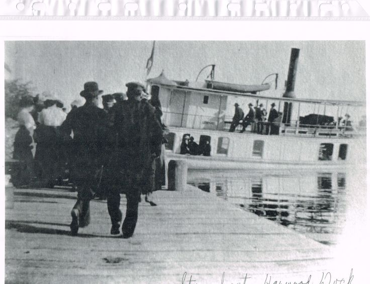 Steamboat at the Harwood Dock, picture taken mid 1800's