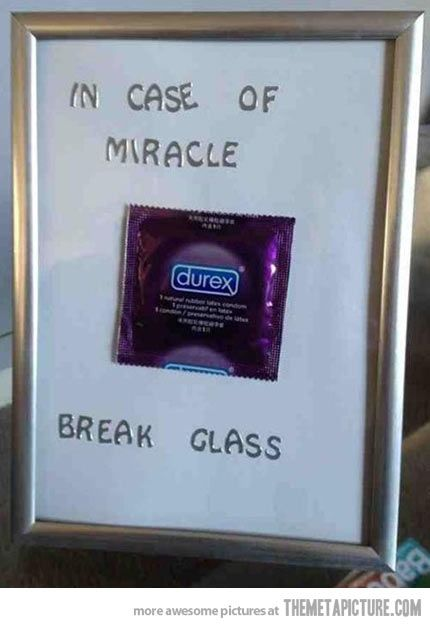 In case of miracle… white elephant gift