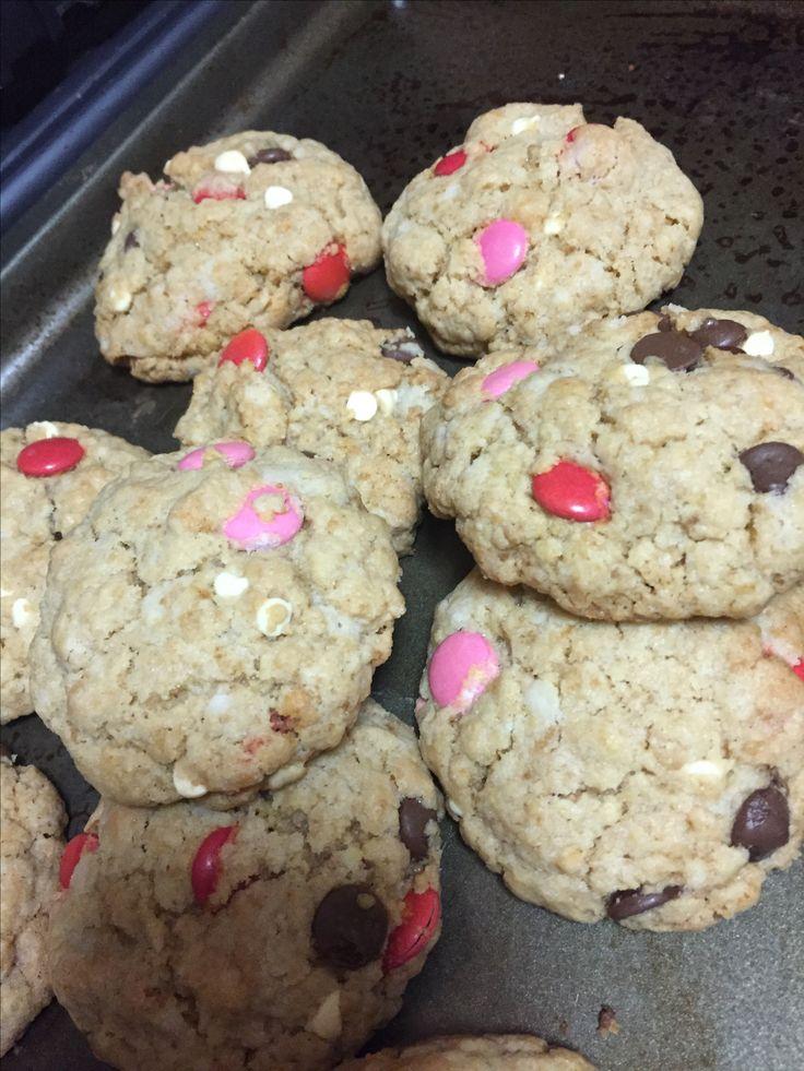 M&M cookies #valentinesday
