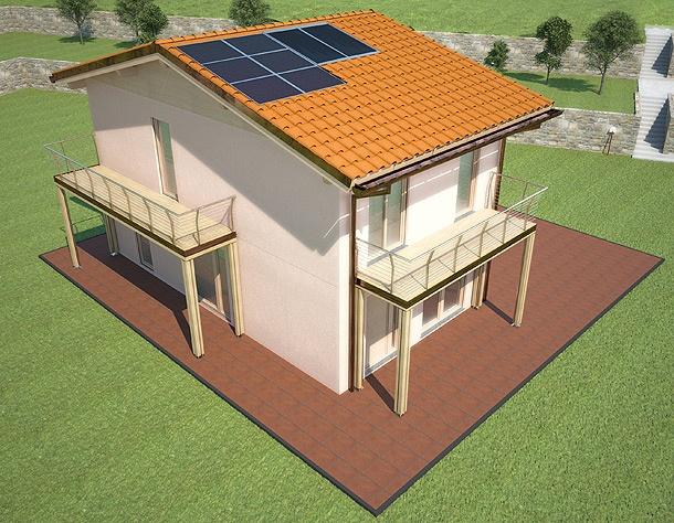SMARThouse 137  Villa autonoma, intelligente e funzionale nella distribuzione degli spazi interni e con numero infinito di possibilità di relazionare con l'esterno.