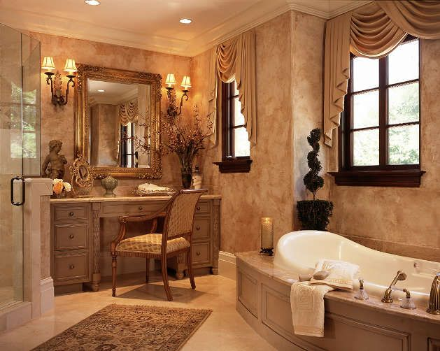 A place to sit and relax while getting ready in the for Bathroom remodel 85382