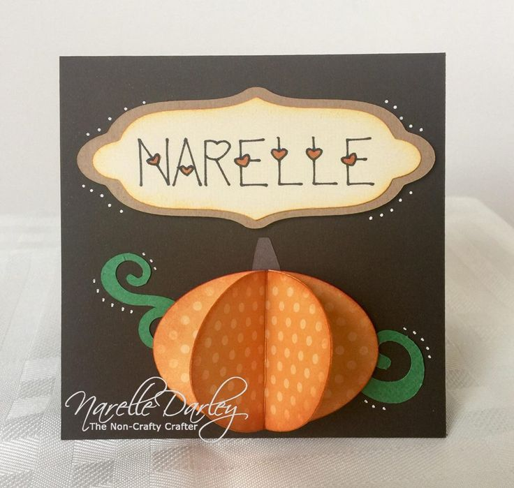 3D Pumpkin Thanksgiving placecard Free Cricut Design Space file can be found at www.facebook.com/groups/cricutexploreandmore