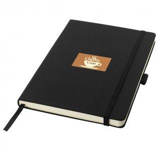 Promotional Balmain Notebook mini A6, fabric Covered, matt black