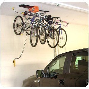 25 best ideas about garage ceiling storage on pinterest for Diy motorized pulley system