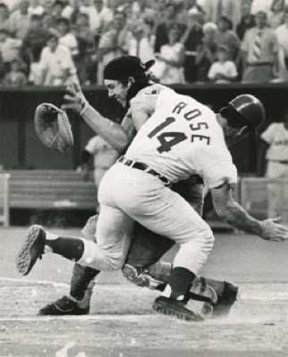 One of baseball's most famous collisions occurred at the very end of the 1970 All-Star Game, when, after the ball was hit, Pete Rose of the ...