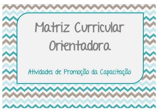 Matriz Curricular Orientadora - amostra