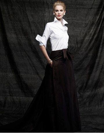 Este es el estilo básico que me encanta de Carolina Herrera!