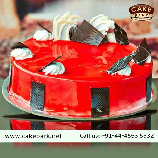 Some #cakes fruity by this fabulous blend of #Strawberry crush and fresh cream  #Ordercakesonlinechennai #Midnightdelivery #Birthdaycakes For more info : http://www.cakepark.net/strawberry-squash-rfcss.html Call us: +91-44-4553 5532
