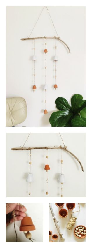 Click through to learn how to make this beautiful, all natural wind chime - www.rowhousenest.com